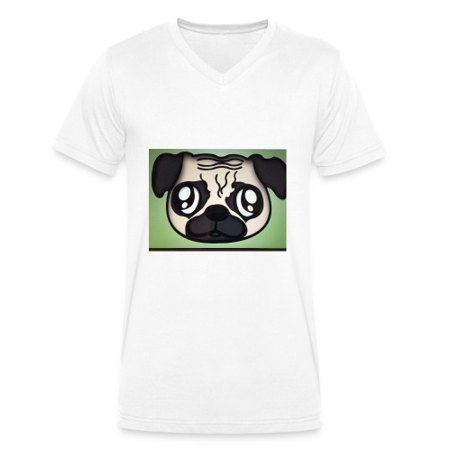 Pugly boss - Men's Organic V-Neck T-Shirt by Stanley & Stella