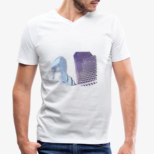 Landscape blu - T-shirt ecologica da uomo con scollo a V di Stanley & Stella