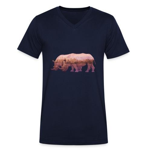 Nashorn Alpen - Männer Bio-T-Shirt mit V-Ausschnitt von Stanley & Stella