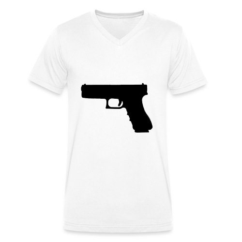 The Glock 2.0 - Men's Organic V-Neck T-Shirt by Stanley & Stella