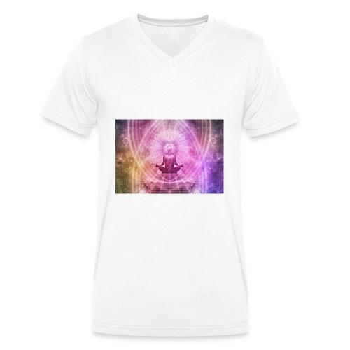 meditation 1384758 - Men's Organic V-Neck T-Shirt by Stanley & Stella