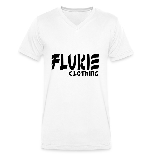 Flukie Clothing Japan Sharp Style - Men's Organic V-Neck T-Shirt by Stanley & Stella