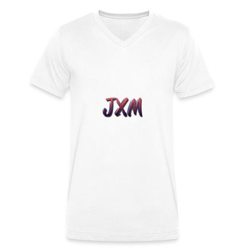 JXM Logo - Men's Organic V-Neck T-Shirt by Stanley & Stella
