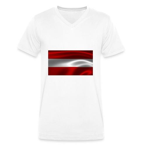 Austria I Love Austria - Männer Bio-T-Shirt mit V-Ausschnitt von Stanley & Stella