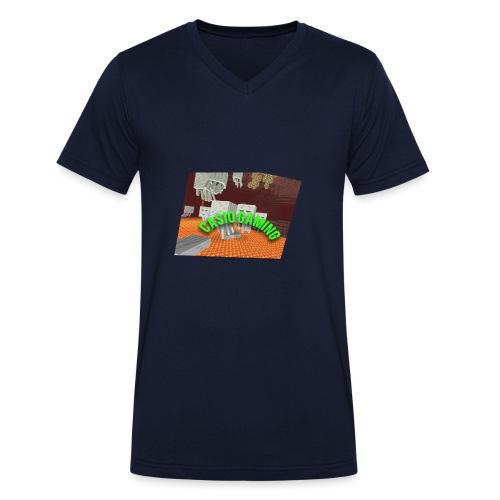 Logopit 1513697297360 - Mannen bio T-shirt met V-hals van Stanley & Stella