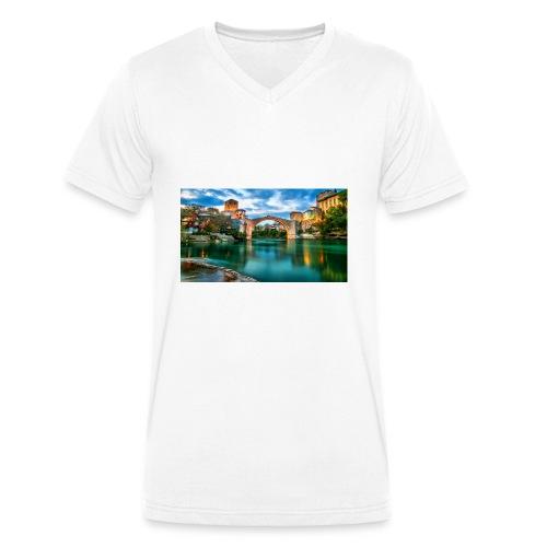Mostar - Ekologisk T-shirt med V-ringning herr från Stanley & Stella