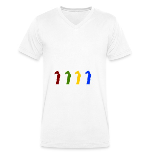 Detective Horis Rainbow - Men's Organic V-Neck T-Shirt by Stanley & Stella