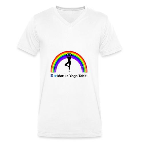 Logo de Maruia Yoga Tahiti - T-shirt bio col V Stanley & Stella Homme