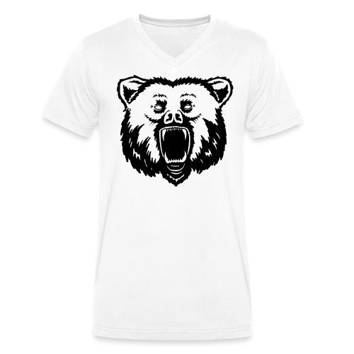 Bär - Männer Bio-T-Shirt mit V-Ausschnitt von Stanley & Stella