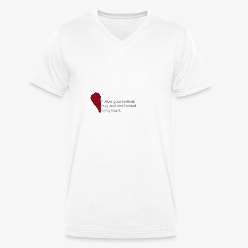 Heart Art - Männer Bio-T-Shirt mit V-Ausschnitt von Stanley & Stella
