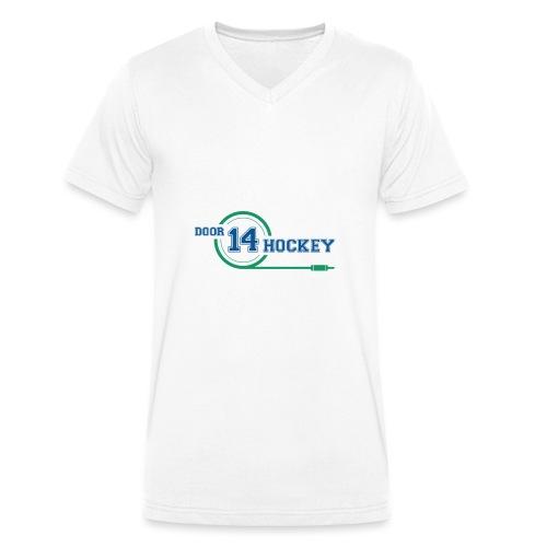 D14 HOCKEY LOGO - Men's Organic V-Neck T-Shirt by Stanley & Stella