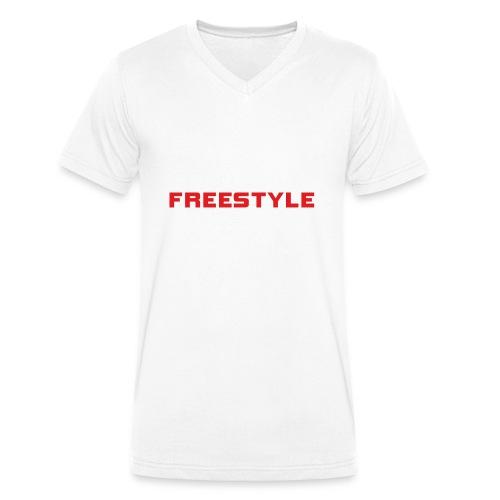 LOGO FREESTYLE RED - T-shirt bio col V Stanley & Stella Homme