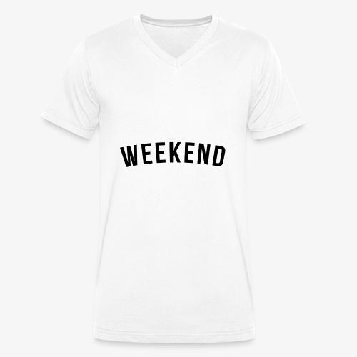 WEEKEND BLACK - Men's Organic V-Neck T-Shirt by Stanley & Stella