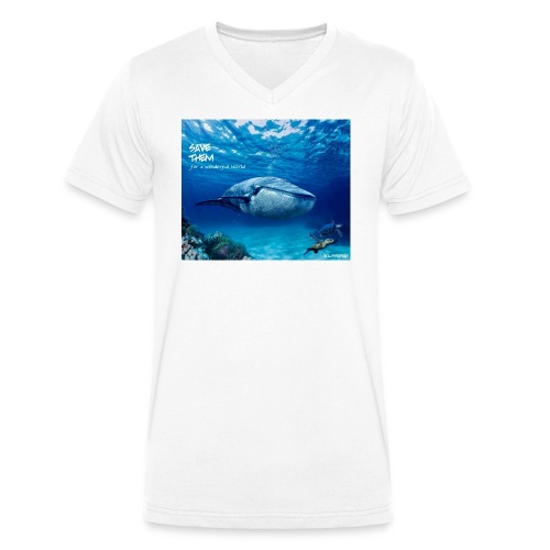 SAVE THEM fww sea - Camiseta ecológica hombre con cuello de pico de Stanley & Stella
