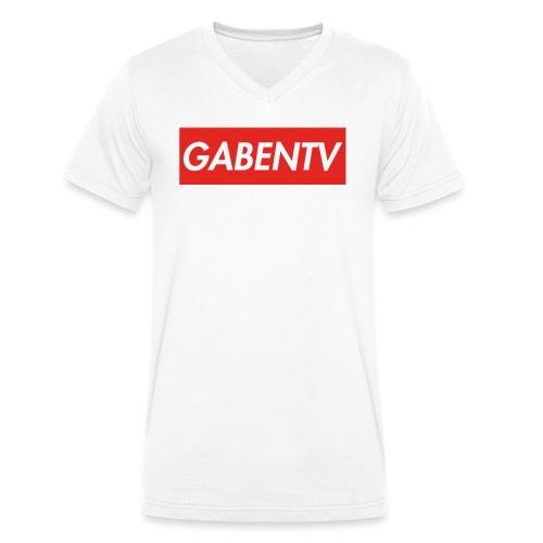 GabenTV Red - Økologisk Stanley & Stella T-shirt med V-udskæring til herrer