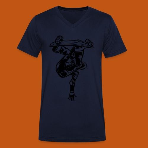 Skater / Skateboarder 03_schwarz - Männer Bio-T-Shirt mit V-Ausschnitt von Stanley & Stella