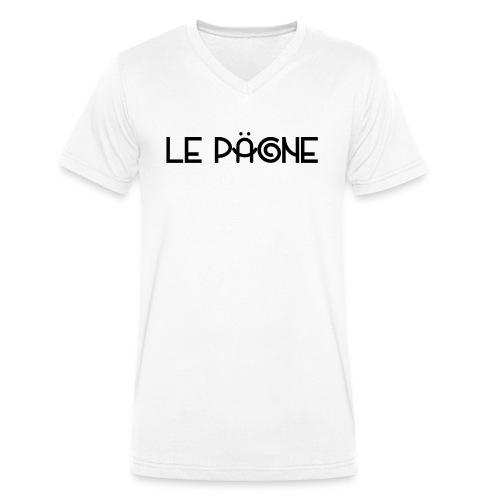 Le Pägne Logo Noir - T-shirt bio col V Stanley & Stella Homme