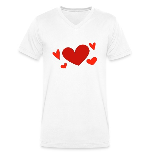 Five hearts - Men's Organic V-Neck T-Shirt by Stanley & Stella