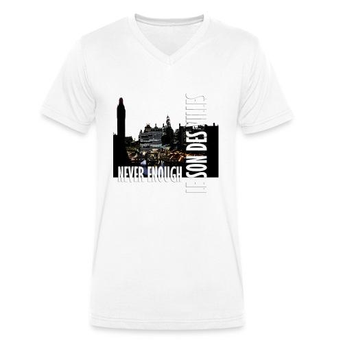 Le Son Des Villes : Vinyl by night - T-shirt bio col V Stanley & Stella Homme