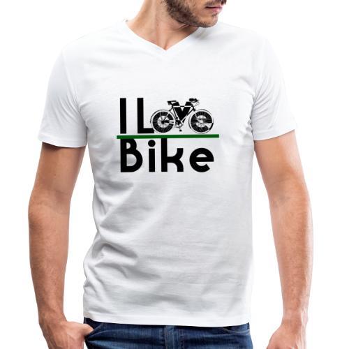 I love bike - T-shirt ecologica da uomo con scollo a V di Stanley & Stella