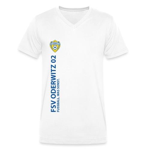 Praesi blau gif - Männer Bio-T-Shirt mit V-Ausschnitt von Stanley & Stella