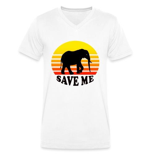 Elefant SAVE ME Schattenriss Sonne - Männer Bio-T-Shirt mit V-Ausschnitt von Stanley & Stella