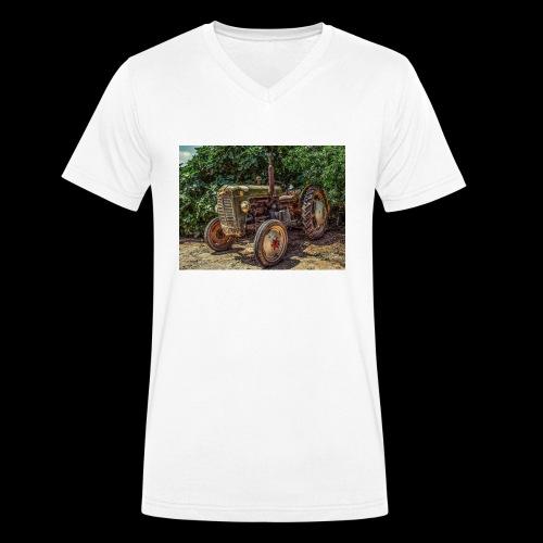 Traktor Oldtimer - Männer Bio-T-Shirt mit V-Ausschnitt von Stanley & Stella