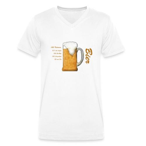 The real cost of Beer. Der wahre Preis des Bieres. - Männer Bio-T-Shirt mit V-Ausschnitt von Stanley & Stella
