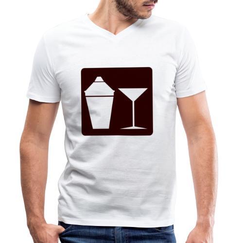Alkohol - Männer Bio-T-Shirt mit V-Ausschnitt von Stanley & Stella