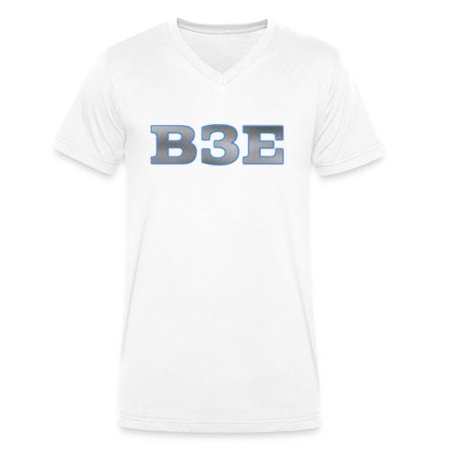 B3E: Logo - GlowingSteel - Men's Organic V-Neck T-Shirt by Stanley & Stella