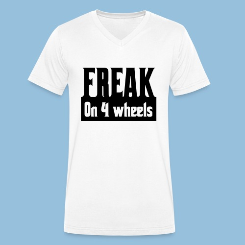 Freakon4wheels - Mannen bio T-shirt met V-hals van Stanley & Stella