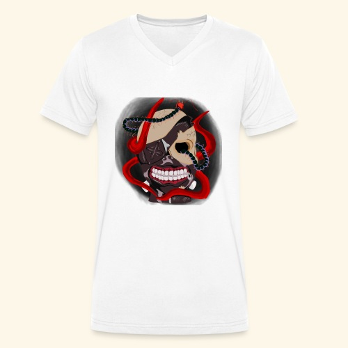 Tokyo Ghoul Tattoo design - Men's Organic V-Neck T-Shirt by Stanley & Stella