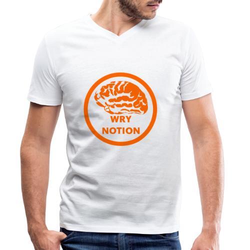 WRYNOTION Brain Logo - Männer Bio-T-Shirt mit V-Ausschnitt von Stanley & Stella