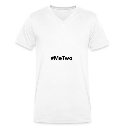 #MeTwo ist das Hashtag gegen Rassismus im Alltag - Männer Bio-T-Shirt mit V-Ausschnitt von Stanley & Stella
