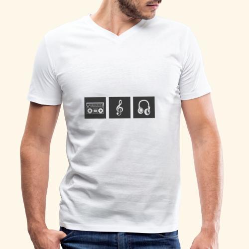 Music is Passion - Männer Bio-T-Shirt mit V-Ausschnitt von Stanley & Stella