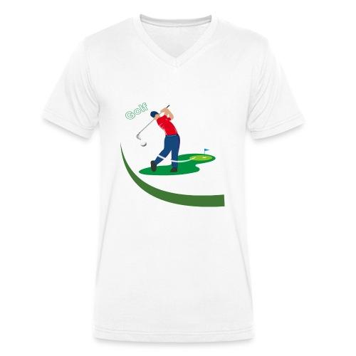 Golf - T-shirt bio col V Stanley & Stella Homme