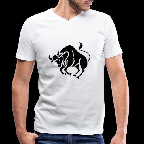 STERNZEICHEN STIER - Männer Bio-T-Shirt mit V-Ausschnitt von Stanley & Stella