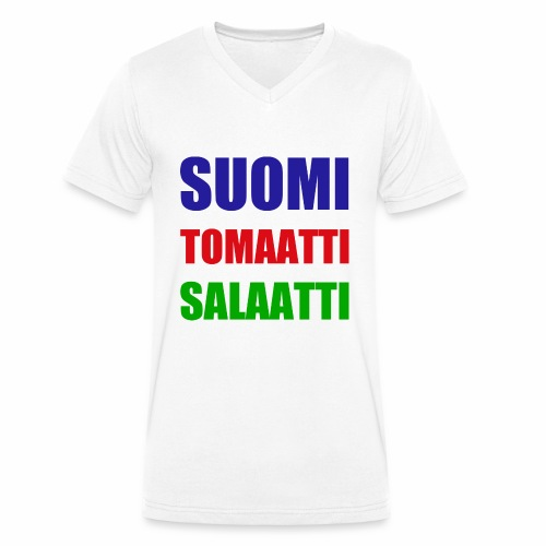 SUOMI SALAATTI tomater - Økologisk T-skjorte med V-hals for menn fra Stanley & Stella