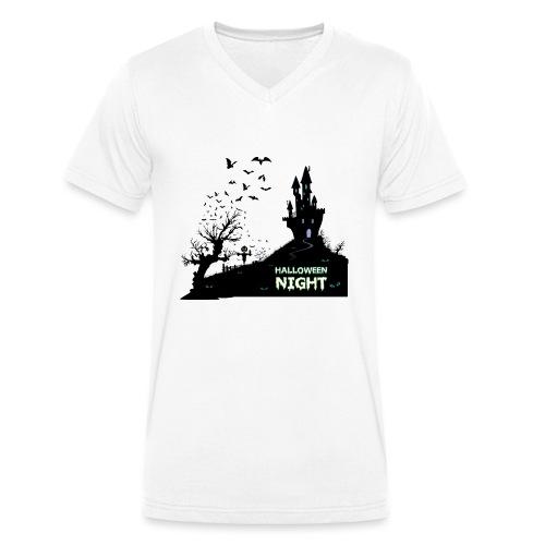 HALLOWEEN NIGHT - Männer Bio-T-Shirt mit V-Ausschnitt von Stanley & Stella