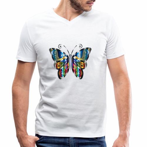 butterfly - Ekologiczna koszulka męska z dekoltem w serek Stanley & Stella
