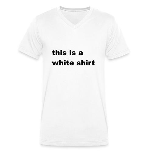 White shirt - Männer Bio-T-Shirt mit V-Ausschnitt von Stanley & Stella