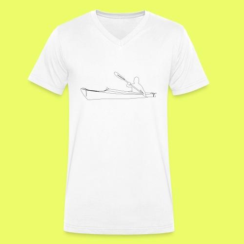 Shilouette Seekajak - Männer Bio-T-Shirt mit V-Ausschnitt von Stanley & Stella