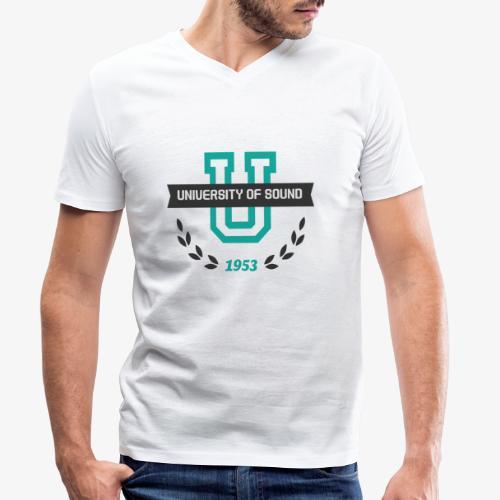 University 001 - Camiseta ecológica hombre con cuello de pico de Stanley & Stella