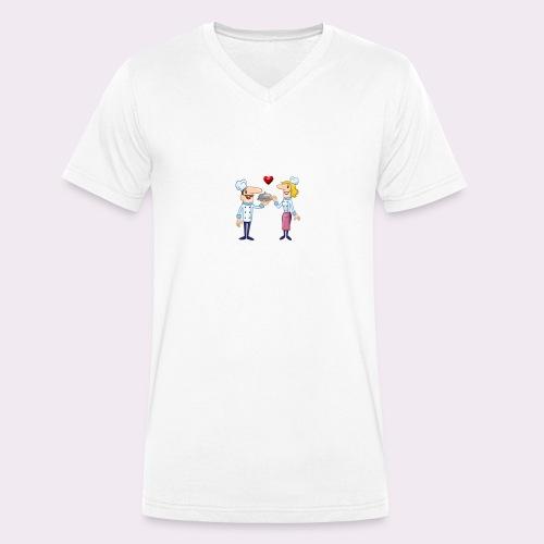 cheffs - Camiseta ecológica hombre con cuello de pico de Stanley & Stella