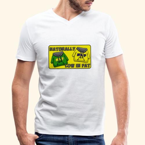 drapeau naturallylowinfat - T-shirt bio col V Stanley & Stella Homme
