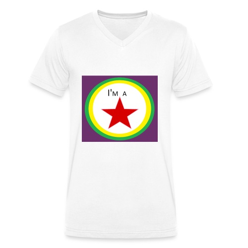 I'm a STAR! - Men's Organic V-Neck T-Shirt by Stanley & Stella