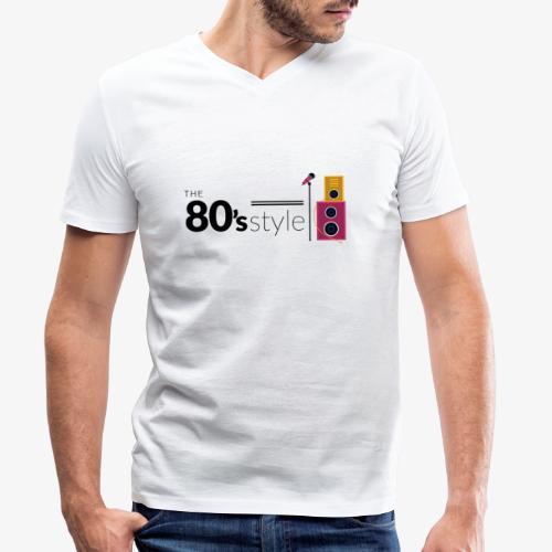 80s - Camiseta ecológica hombre con cuello de pico de Stanley & Stella