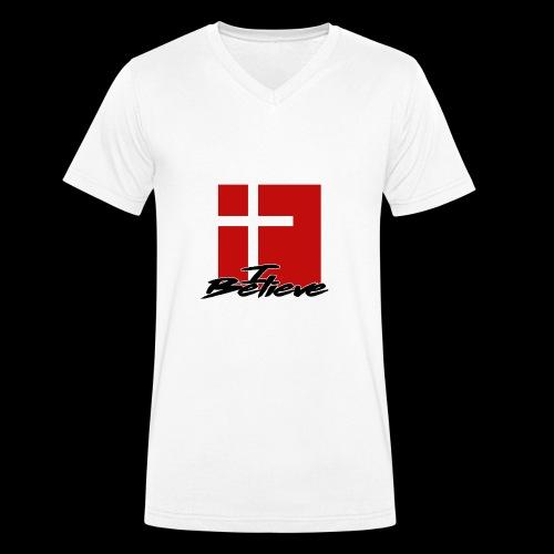 I BELIEVE 2 - Camiseta ecológica hombre con cuello de pico de Stanley & Stella