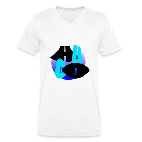 Hugo's logo transparant - Mannen bio T-shirt met V-hals van Stanley & Stella