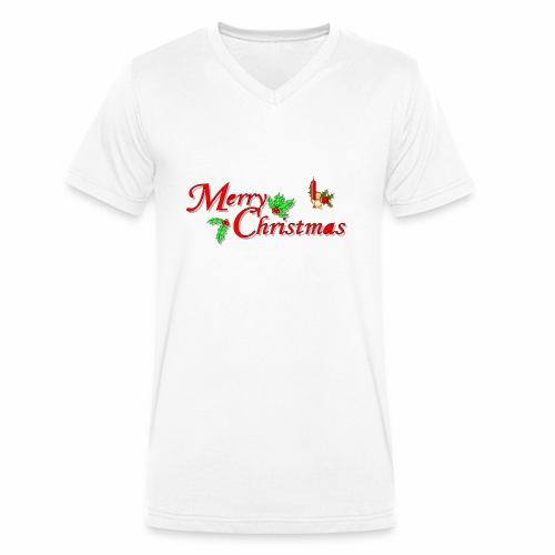 -Merry Christmas- - Männer Bio-T-Shirt mit V-Ausschnitt von Stanley & Stella